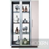Modrest B530 Modern Brown Oak w/ Grey Gloss Wine Cabinet