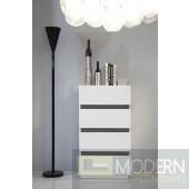 Modrest CG02C Modern White Chest w/ Mirror