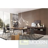 Modrest Daytona - Modern Brown Oak Dining Table