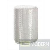 Temptation 8P024 Modern White Pouf