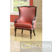 PEGASUS Dark Espresso/Distressed Red Victorian Accent Arm Chair