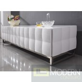Modern Alissa White Lacquer TV Stand Entertainment Center