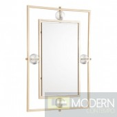 Floating Rectangle Lucite Mirror