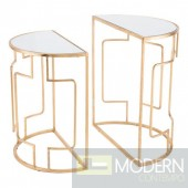Preveza Set Of 2 End Tables Gold