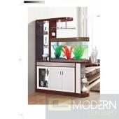 Modern Contemporary Bookcase Curio Display Room Divider with Aquarium.
