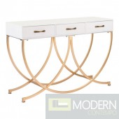 Modern OPEMII Console Table in White