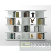 Modrest Modern White Lacquer Display Unit