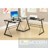 3-pcs Work Station Writing Study Desk with Tempered Glass Table Top MCGSA3042 Free 24 to 72 hours inside delivery DC,MD,VA