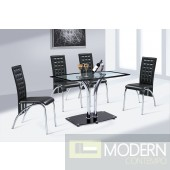 modern glass dining table and chair set