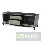 Michael Amini After Eight Contemporary Entertainment Console Black Onyx by AICO