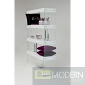 Modrest Aura Modern White Floating Bookcase