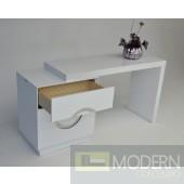 A&X Ovidius - Transitional White Vanity Table