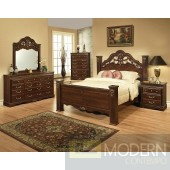 Modern Cherry laminated wood Bed Only MCGSB3411 Free Inside Delivery for DMV metro area.