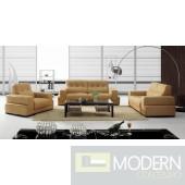 BO3911 Modern Light Brown Leather Sofa Set
