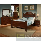 Modern Cherry laminated wood Bed Only MCGSB43712  Free Inside Delivery for DMV metro area.