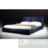 Versus Bianca - Silky Black Modern Platform Bed