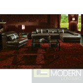 Boston Contemporary Leather Sectional Sofa