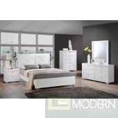 Modern White or Black w/Leatherette Upholstered Bed Only MCGSB1235 Free Inside Delivery for DMV metro area.