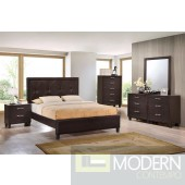 Modern Walnut  w/Leatherette Upholstered Bed Only MCGSB1237 Free Inside Delivery for DMV metro area.