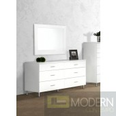 Modrest Bravo Modern White Mirror