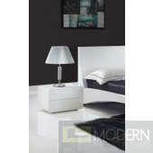 Modrest Bristol - Contemporary White Nightstand