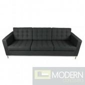 Button Sofa in Wool, Black