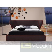 Chanelle Bed in Brown Fabric