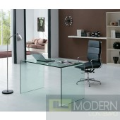 Bent  Glass Office Desk