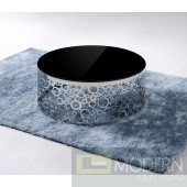 Modrest Zircon - Modern Black Glass Top Coffee Table
