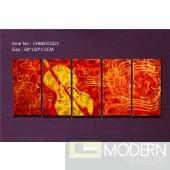 Modern Contemporary Abstract Metal Wall Sculpture Musical Art Work Painting Home Decor 5pc/Set