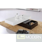 Modrest Modern 2-Tone Coffee Table with Storage
