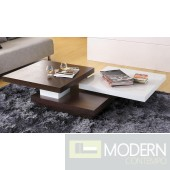Modrest Egypt Modern White and Wood Coffee Table