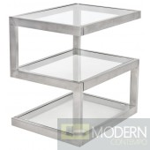 Livelli Clear Glass Side Table