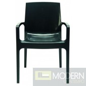 Modrest Cream - Modern Glossy Anthracite Italian Dining Chair