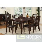 5pc Traditional Espresso Polished Wood Formal dining table Set. MCGSD2179/1285 Free 24 to 48hrs Delivery and set up in DMV metro area.