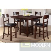 5pc Counter Height Espresso Pub W/ Lazy Susan dining table Set. MCGSD2346-07 Free 24 to 3 days Free inside Delivery  in DMV metro area.