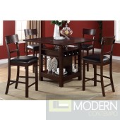 5pc Wine Rack Counter Height  Espresso Pub W/ Lazy Susan dining table Set. MCGSD2347-07 Free 24 to 3 days Free inside Delivery  in DMV metro area.