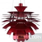 """24"""" Petal Chandelier Modern Lamp in Red"""