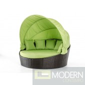 Renava Demi Lune Outdoor Green Round Bed