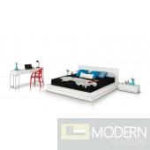 Modrest Prestige Modern White Lacquer Eastern King Bed