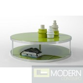 Modrest Modern Green Lacquer Round Coffee Table