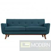 Engage Fabric Loveseat Azure Blue