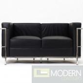 LC2 Le Corbusier Petit Loveseat in Genuine Leather