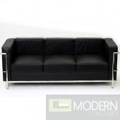 LC2 Le Corbusier Petit Sofa in Genuine Leather