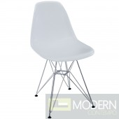 MOLDED PLASTIC CHAIR WITH CHROME LEGS