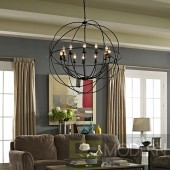"39.5"" Industrial Rustic Atom Orb Orbit Ceiling Chandelier Lamp"