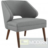 DOCK UPHOLSTERED FABRIC ARMCHAIR IN LIGHT GRAY