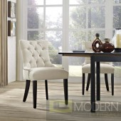 Melody Tufted Nailhead Dining Chair Beige