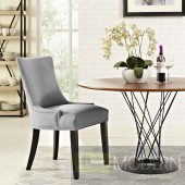 Marjorie Nailhead Dining Chair light grey