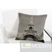 Modrest Eiffel Grey Throw Pillow